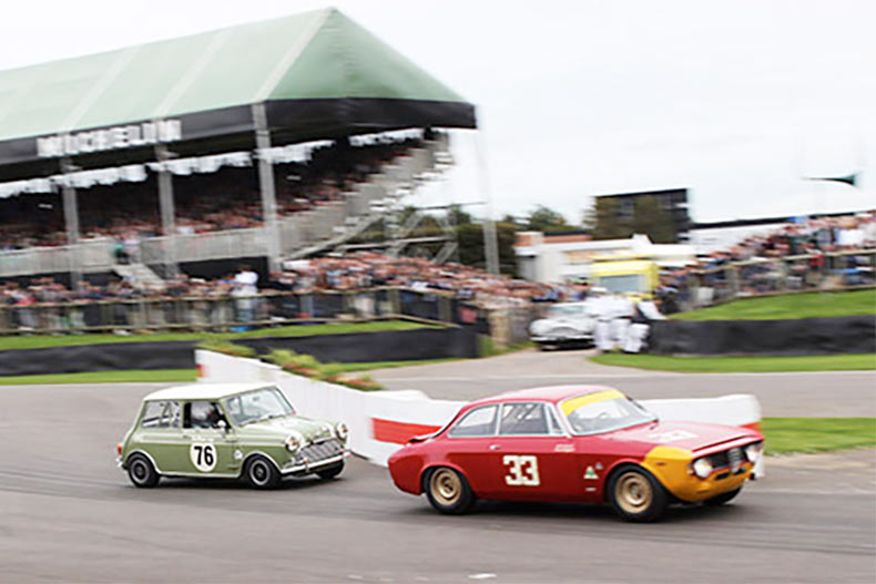 Swiftune power top four Minis at Goodwood Revival 2015