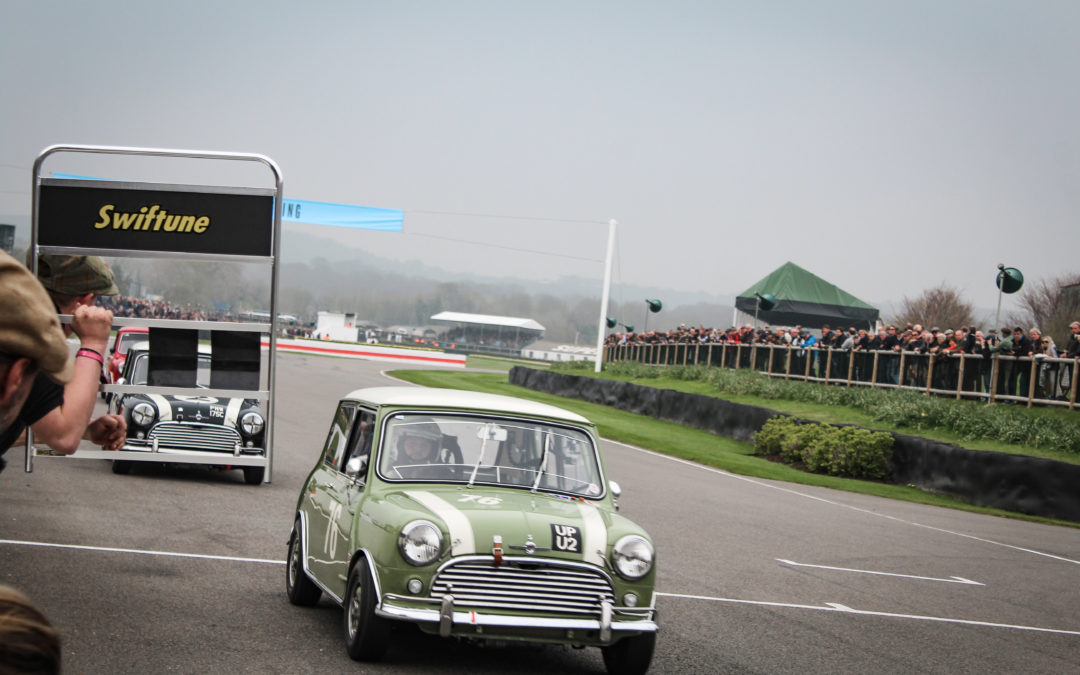 Sixty Mini's battle at Goodwood 60th anniversary race